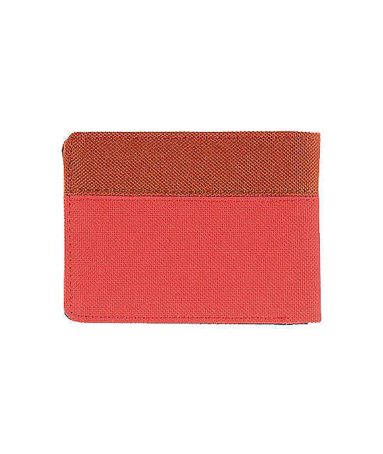 Herschel Supply Co. Hank Red Canvas Bifold Wallet