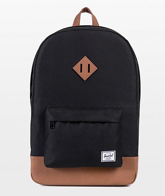 Herschel Supply Co. Heritage Mid Black & Tan Backpack