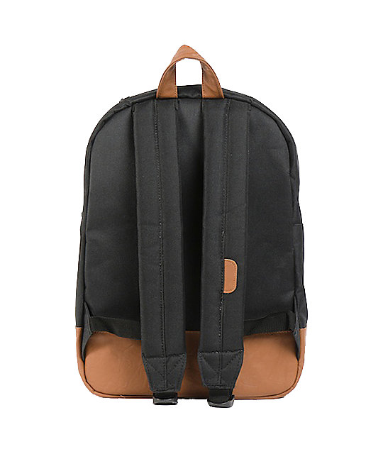 Herschel Supply Co. Heritage Mid-Volume Black Laptop Backpack