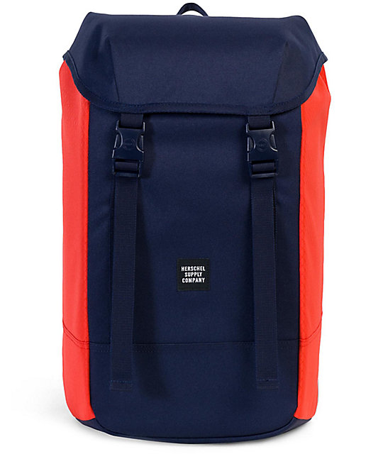 Herschel Supply Co. Iona Peacoat Hot Coral 24L Backpack
