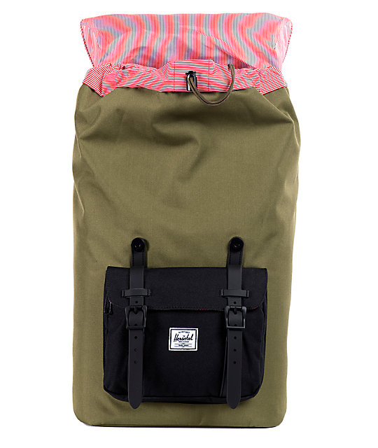 Herschel Supply Co. Little America Army & Black 24L Backpack