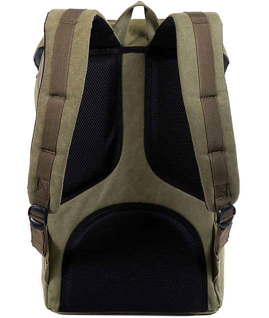 Herschel Supply Co. Little America Army Cotton Canvas Backpack