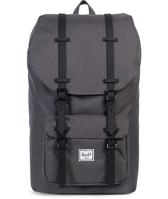Herschel Supply Co. Little America Charcoal & Black Rubber 25L Backpack