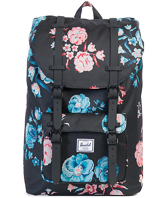 Herschel Supply Co. Little America Mid Volume Pastel Petals Backpack