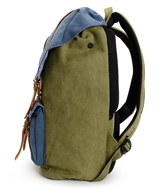 Herschel Supply Co. Little America Washed Army Canvas 24L Backpack