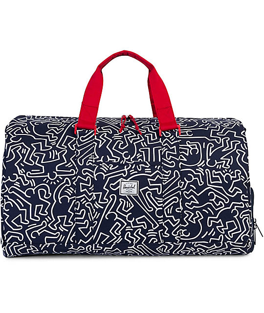 Herschel Supply Co. Novel Peacoat Keith Haring 42.5L Duffle Bag