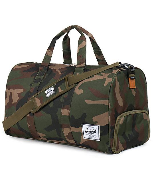 Novel Woodland Camo Duffle Bag