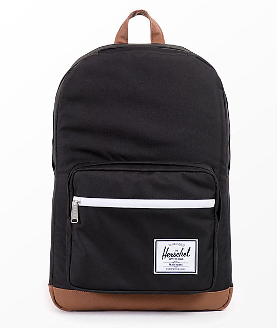 Herschel Supply Co. Pop Quiz Black  & Tan 22 L Backpack by Herschel Supply