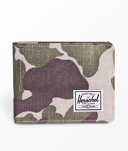 Herschel Supply Co. Roy Frog Camo Bifold Wallet by Herschel Supply