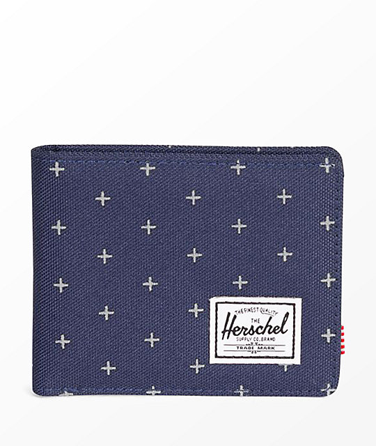 Herschel Supply Co. Roy Peacoat Gridlock Bifold Wallet