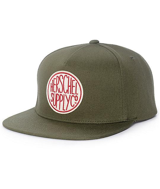 Herschel Supply Co. Scope Army Green Snapback Hat