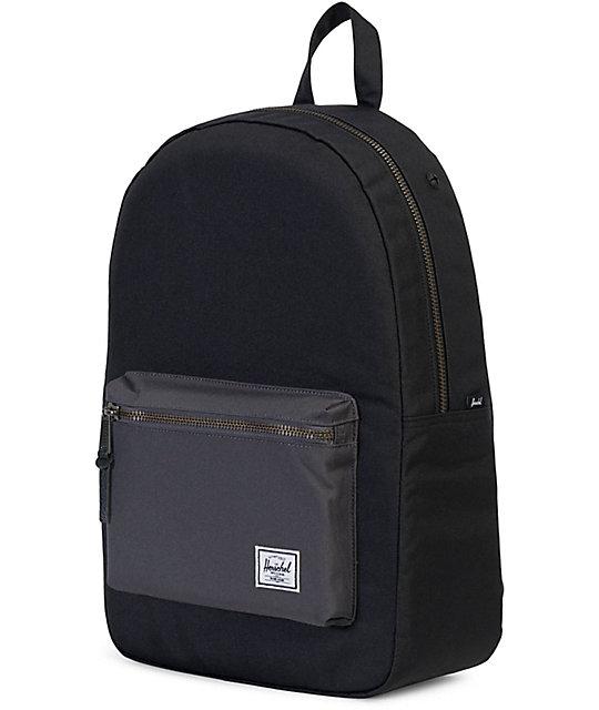 Herschel Supply Co Settlement Backpack: Herschel Supply Co. Settlement Black & Charcoal 23L