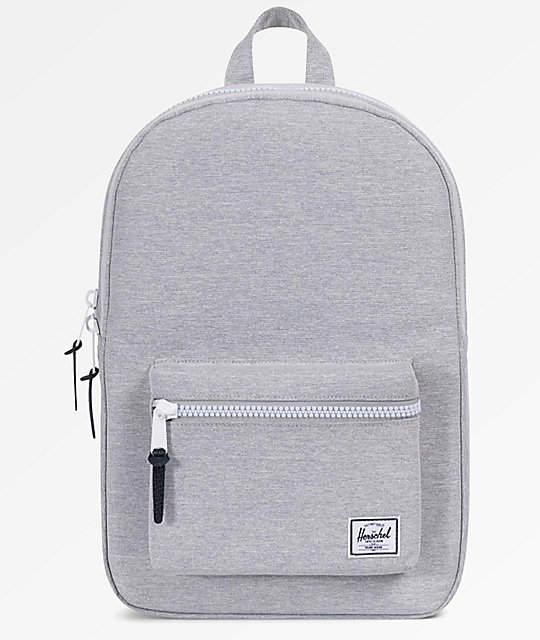Herschel Supply Co. Settlement Mid Light Grey Crosshatch Backpack by Herschel Supply
