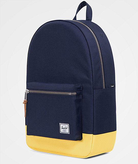 Herschel Supply Co. Settlement Peacoat & Cyber Yellow 23L Backpack