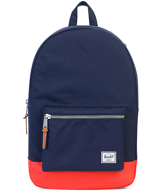 Herschel Supply Co. Settlement Peacoat Hot Coral 23L Backpack