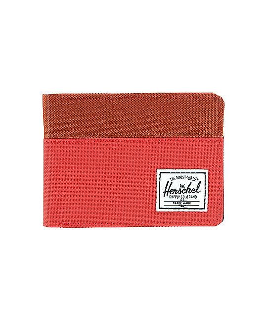 Herschel Supply Hank Red Canvas Bifold Wallet