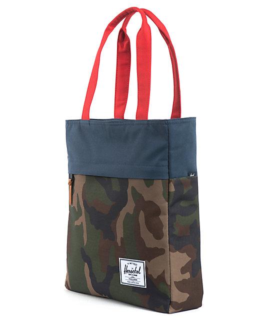 Herschel Supply Harvest Camo, Navy & Red Tote Bag