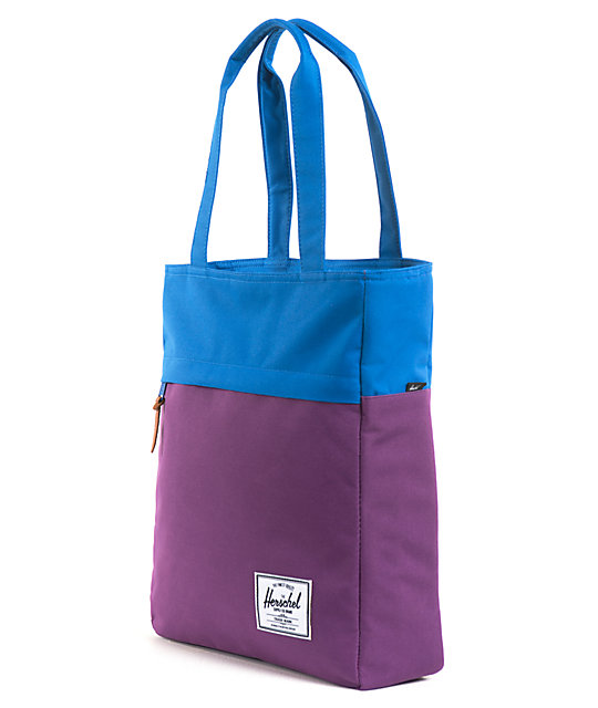 Herschel Supply Harvest Purple & Blue Tote Bag