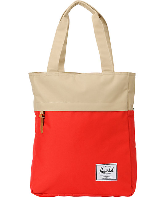 Herschel Supply Harvest Red & Tan 24L Tote Bag