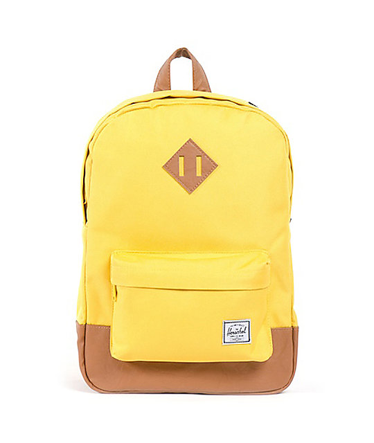 Herschel Supply Heritage 11L Mid-Volume Yellow Backpack