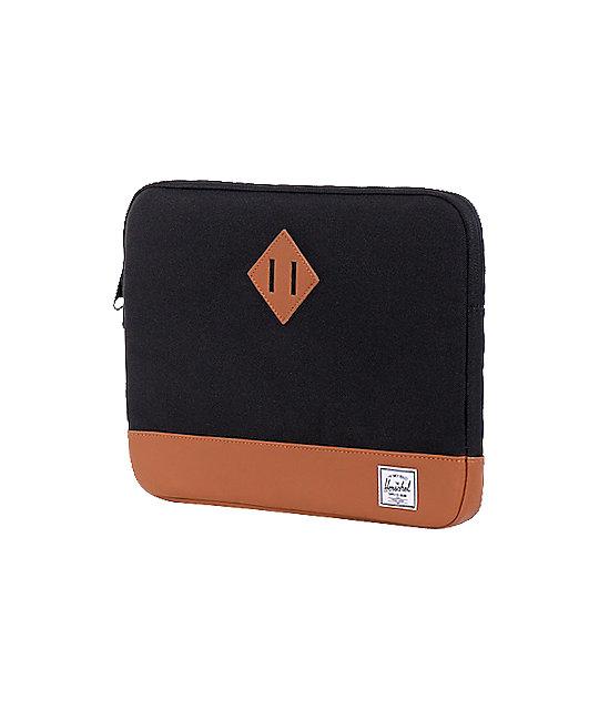 Herschel Supply Heritage Black Laptop Sleeve