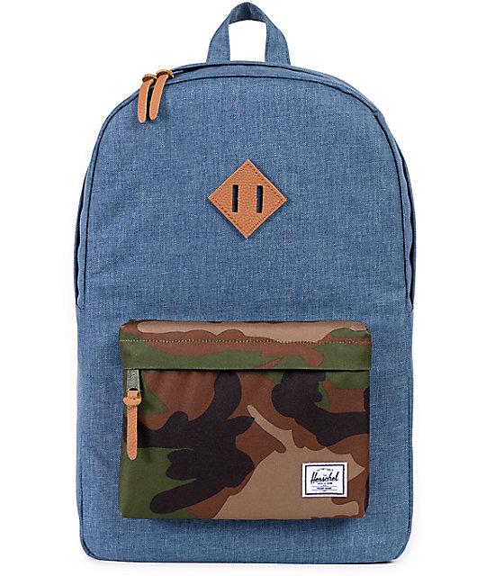 Herschel Supply Heritage Crosshatch & Camo 21L Backpack