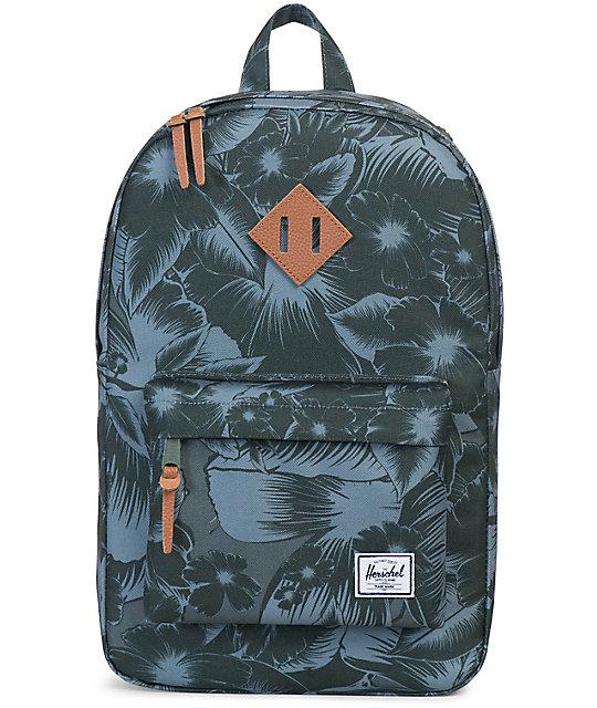 Herschel Supply Heritage Mid Jungle Floral Green 14.5L Backpack