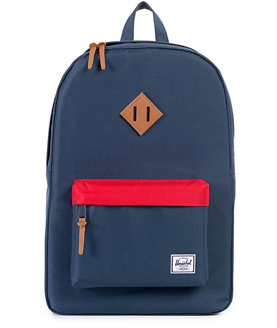 Herschel Supply Heritage Navy & Red 21.5L Backpack