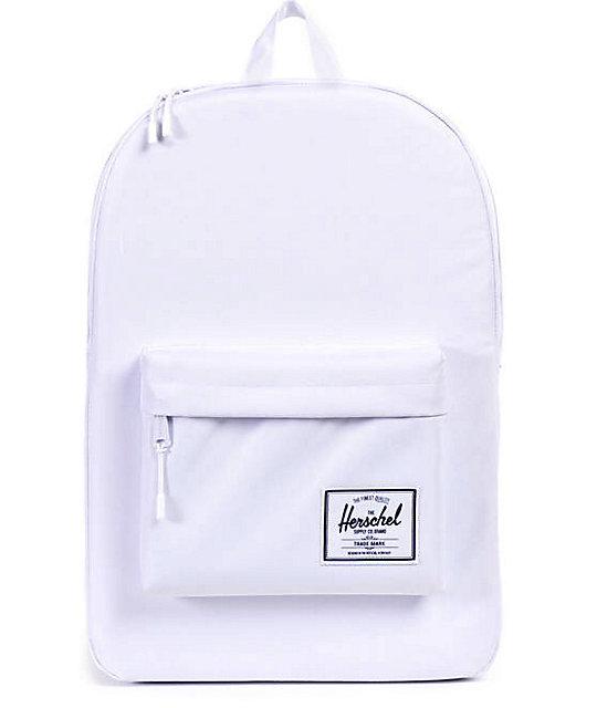 how to clean white herschel bag