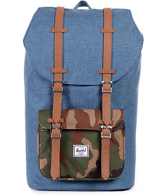 Herschel Supply Little America Crosshatch & Camo 23.5L Backpack