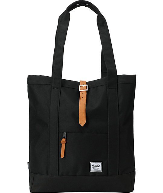Herschel Supply Market Black 11L Tote Bag