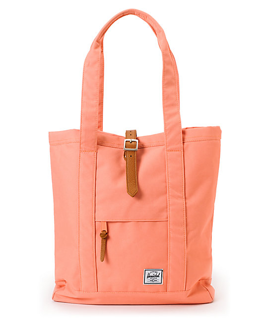 Herschel Supply Market Coral Tote Bag