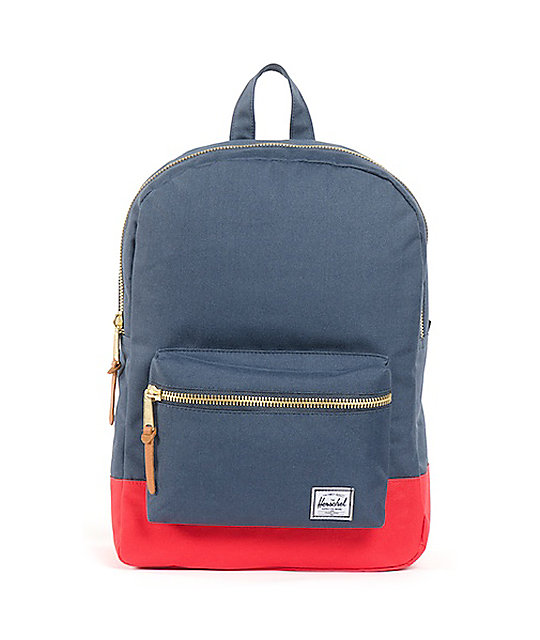Herschel Supply Navy & Red Mid-Volume Settlement Backpack