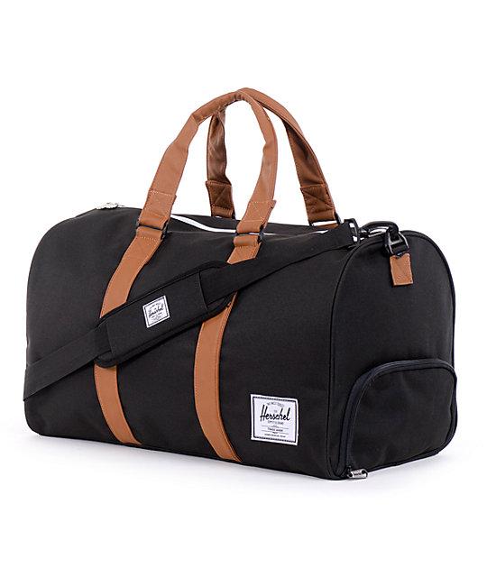 Herschel Supply Novel Black Duffel Bag