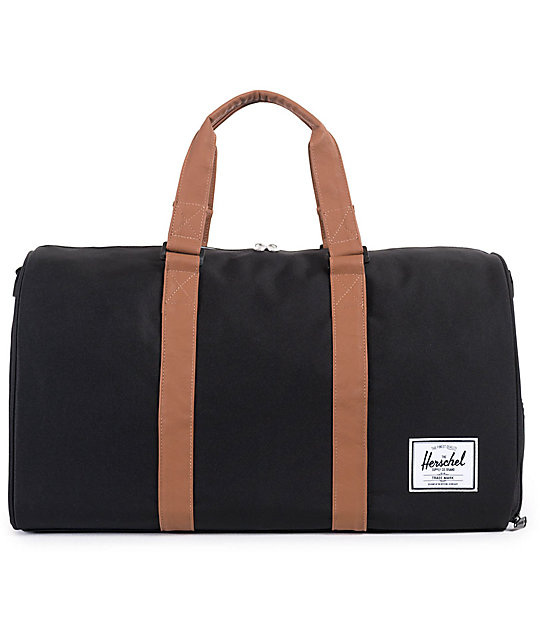 Gym Bag Herschel: Herschel Supply Novel Black Duffle Bag At Zumiez : PDP
