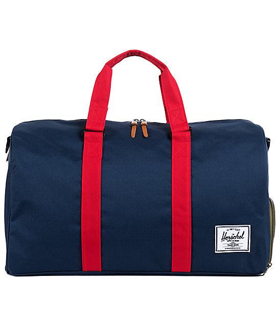 Herschel Supply Novel Navy & Red 39L Duffel Bag