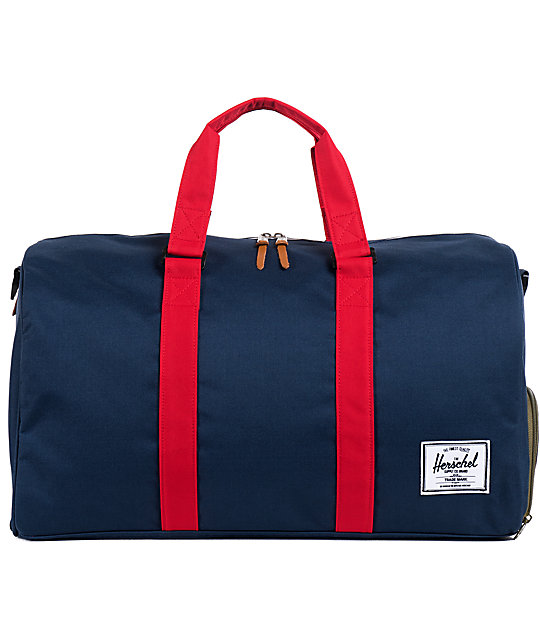 Herschel Supply Novel Navy & Red 39L Duffle Bag
