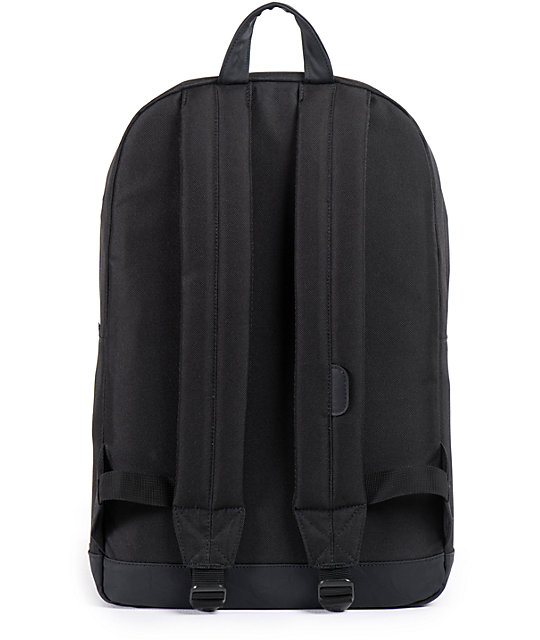 Herschel Supply Pop Quiz Black Faux Leather 20L Backpack