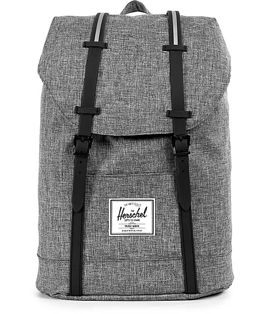 Herschel Supply Retreat Raven Crosshatch Black 19.5L Backpack
