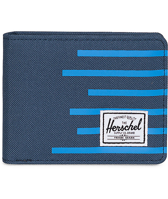 Herschel Supply Roy Navy & Cobalt Stripe Bifold Wallet