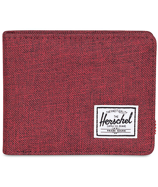 Herschel Supply Roy Winetasting Crosshatch Bifold Wallet