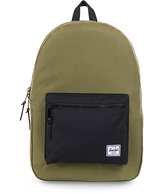 Herschel Supply Settlement Army Green & Black Backpack