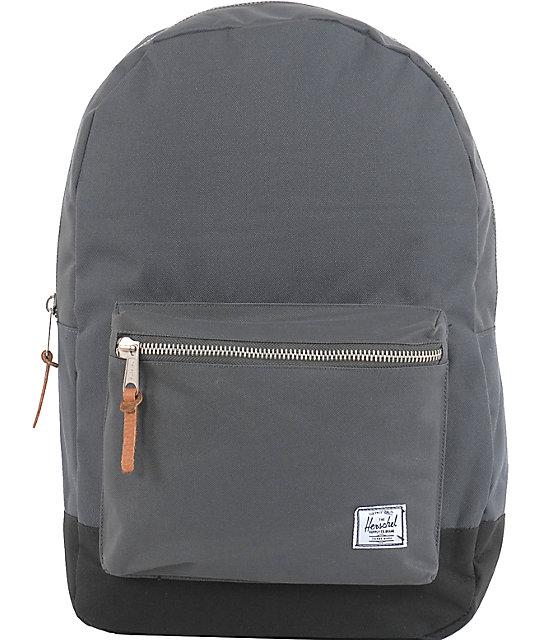 Herschel Supply Settlement Charcoal & Black Backpack