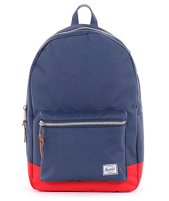 Herschel Supply Settlement Navy Blue & Red 20L Backpack