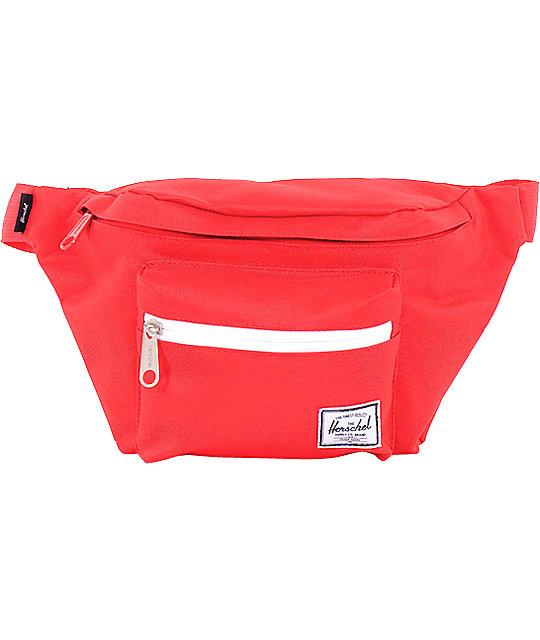 Herschel Supply Seventeen Red Canvas 3L Fanny Pack