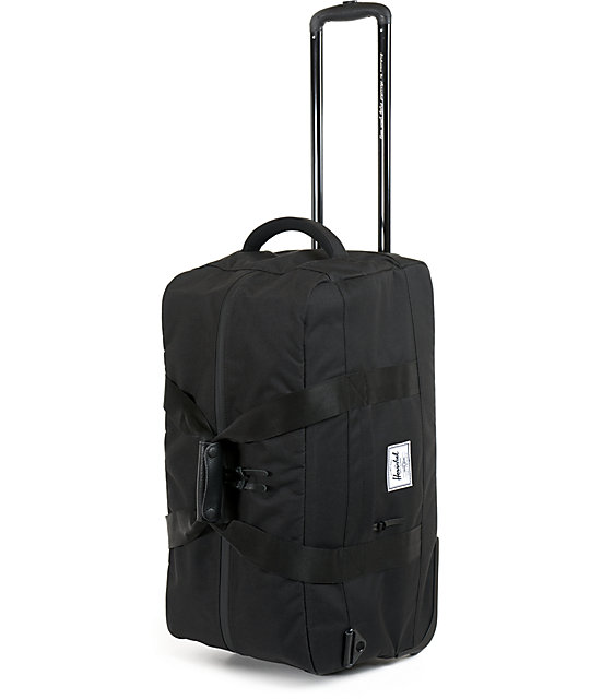 Herschel Supply Wheelie Outfitter Black Duffle Bag