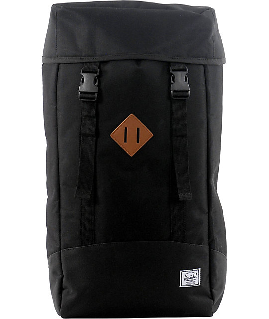 Herschel Supply Zippo Black Backpack