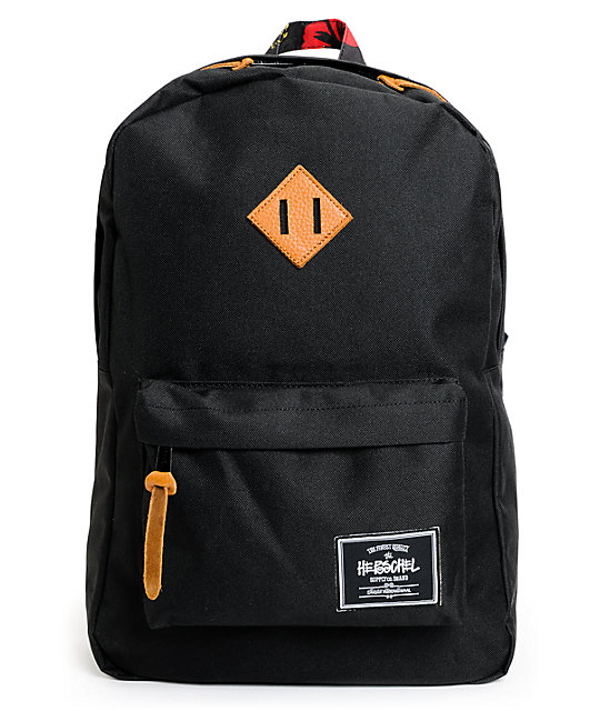 Herschel Supply x Stussy Heritage Black Backpack
