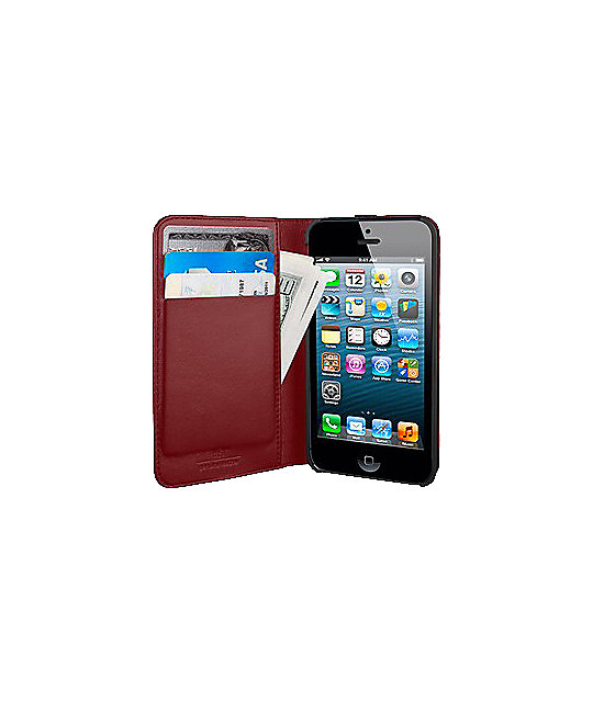 Hex Axis Red iPhone 5 Case Wallet