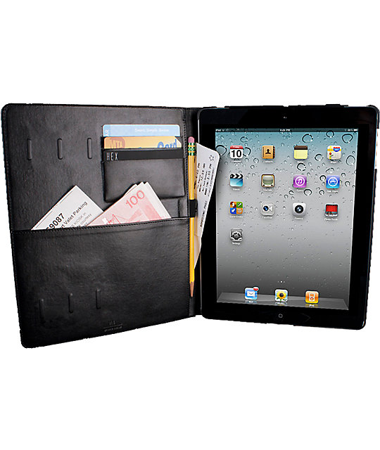 Hex Code Folio Black iPad Case